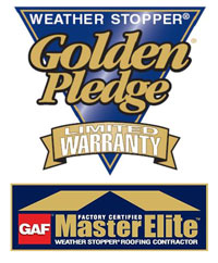 Only a factory-certified GAF Master Elite™ Roofing Contractor can provide the comprehensive Golden Pledge® lifetime warranty
